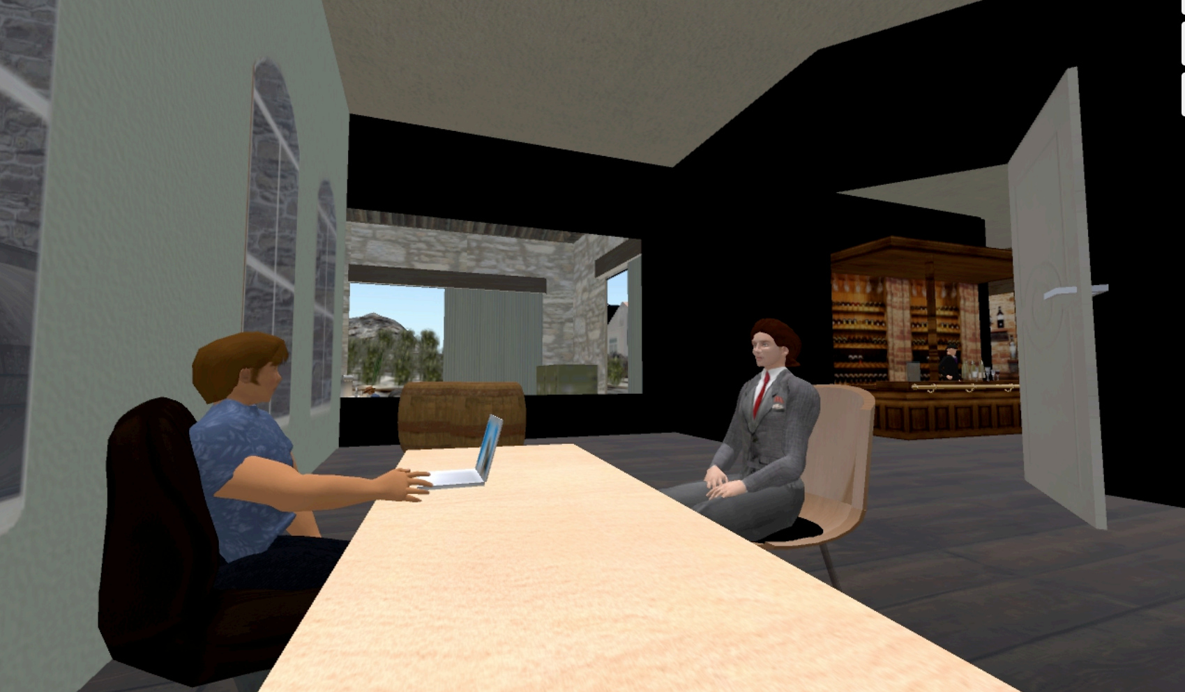 Second Life Office Scene