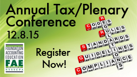 Annual Tax Plenary Conference 2015