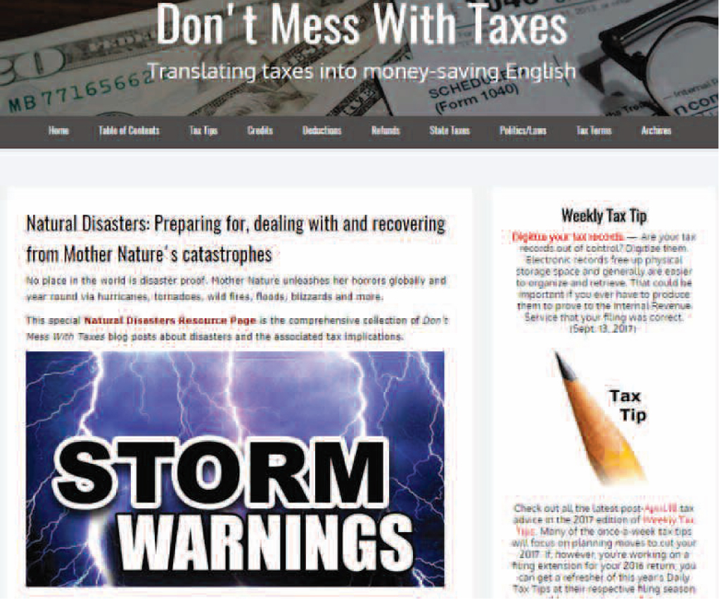 Tax Resources for Natural Disasters